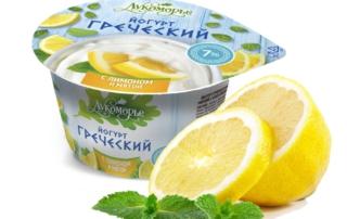 Греческий йогурт с лимоном и мятой от ТМ Лукоморье