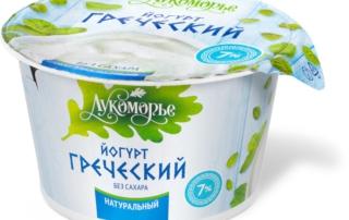 Йогур греческий натуральный без сахара от ТМ Лукморье молочные продукты - здоровый и полезный перекус